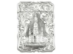 Sterling Silver Card Case By Nathanial Mills - Antique Victorian 1848