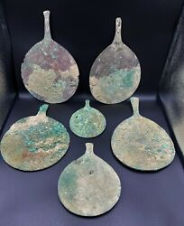 Ancient Antique Bronze Mirrors From Ancient Romans And Greeks Times Rare Items