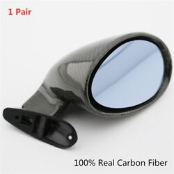 Carbon Fiber Mirrors Hot Rod Vintage Sport Racing Car Side Wing Mirrors Bullet