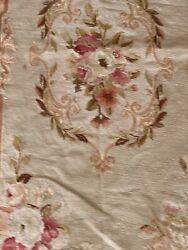 Three Floral Antique Style Needlepoint Area Rugs Variation In Sizes