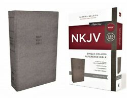 Thomas Nelson Nkjv Bible 2018 Gray Cloth Over Board Hard Cover