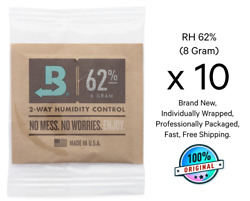 10 Pack Boveda 62% 8 Gram RH 2 Way Humidity Control Over WrappedFree Shipping $12.50
