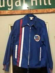 Rare Vintage Bobby Unser Goodyear Tires Swingster Jacket Indy Car Racing 60-70