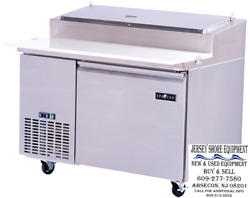 Spartan Refrigeration Spr-50 Refrigerated Counter Pizza Prep Table W/casters