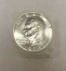 20 - 1974 S Eisenhower Ike Silver Dollar Brilliant Uncirculated Roll Of 20