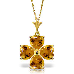 Brand New 3.8 Cttw 14k Solid Gold 18 Fine Joy Of My Life Citrine Necklace