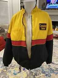 Agriculture Campbell Key Seed Corn Wheat Soybean Quilted Farmers Jacket 44/46 L