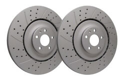 Dbl Drilled And Slotted Front Brake Rotors 400mm Dia - Audi S6 S7 S8
