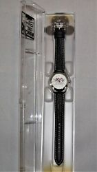 Walt Disney 100 Years Of Magic Leather Band Time Works Watch With Original Case