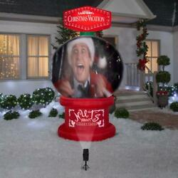 Nlcv 8and039 Lighted Snow Globe Griswold Christmas Yard Inflatable W/ Live Projection