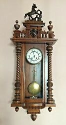 German Wall Clock From The 19 Century