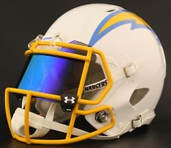 Los Angeles Chargers Authentic Gameday Football Helmet W/under Armour Eye Shield