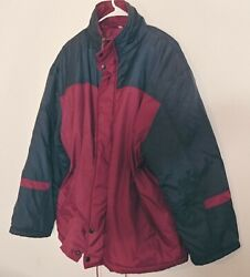 Habands Thermal King Men Winter Jacket Coat Large Insulated Blue Red Windbreaker