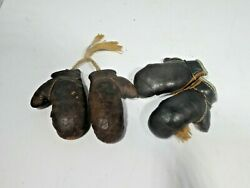 2 Pairs Of Vintage Miniature Boxing Gloves