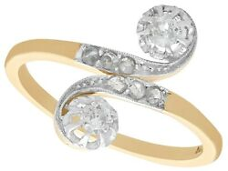 0.50ct Diamond And 14ct Yellow Gold 14ct White Gold Set Twist Ring - Antique