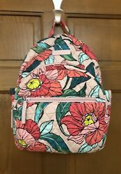 """New VERA BRADLEY Essential Compact Backpack Purse Small """"Vintage Floral"""" $105 $24.99"""