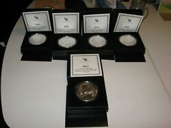 2011 America The Beautiful 5 Oz Silver Coins-andnbsp Andnbsp2andnbsp Of Eachandnbsp 5 Setsandnbsp =10 Sets