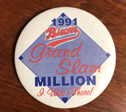 Vintage Buffalo Bisons Button Pinback 1991 Grand Slam Million I Was There 3