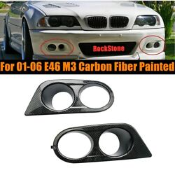 Carbon Fiber Painted Driving Fog Light Cover Covers For 01-06 E46 M3 Ham Style