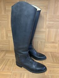 Vtg🔥 The Effingham Bond Boot Company Black Leather Riding Boots Cap Toe 9 Menand039s