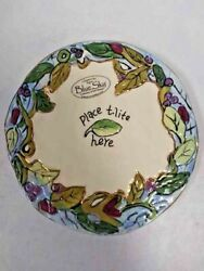 Blue Sky Place T Lite Here Round Base Plate 2003 Issue 5 3/4 Across New