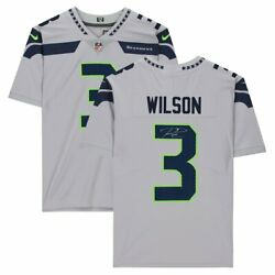 Russell Wilson Seattle Seahawks Autographed Gray Limited Football Jersey