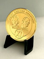 11 Year Bill And Bob Gold Plated Aa Medallions