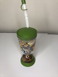 Disney Collection Lion King Snow Globe Cup Lion Guard Kion With Lid And Straw