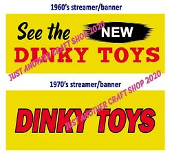 Dinky Toys Vintage 1960's And 1970's Shop Display Streamer Banner Poster Sign