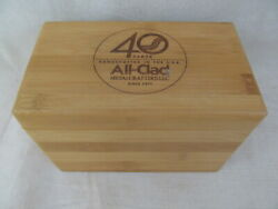 All-clad Wood 40 Year Anniversary Limited Edition Recipe Collector's Wood Box