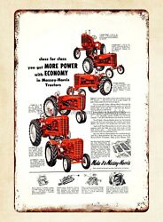 1953 Massey-harris Tractor Colt Mustang Pony Machinery Farm Metal Tin Sign