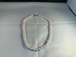 Cultured Japan Akoya Seawater Pearl Necklace 8-8.5mm Aaaa 14k White Gold Clasp.