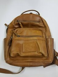 Rawlings Genuine Leather Medium Backpack RS10057 TAN NWT With DEFECTS Scuffs $89.99