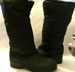 Totes boots Women#x27;s Size 7W Waterproof Front Zip Faux Fur lined Mid Calf $29.99