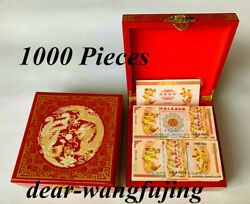 1000pcs Chinese 100 Quintillion Dragon And Phoenix Banknote With Red Wooden Box