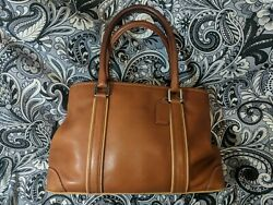 COACH Bag CARRYALL TOTE Shoulder Satchel Brown Leather Purse G30 7586 $38.00