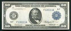 Fr. 1044 1914 50 Frn Federal Reserve Note Atlanta, Ga About Uncirculated Rare