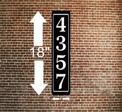 Personalized Home Address Sign Aluminum 4quot; x 18quot; Custom House Number Plaque sq38 $17.99