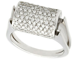 Vintage 0.68 Ct Diamond And 18 Ct White Gold Dress Ring