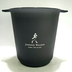New Johnnie Walker Black Label Acrylic Ice Bucket Cooler Box Whisky Collectibles