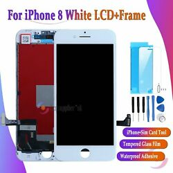 For Iphone 8 Screen Replacement Lcd Assembly Touch Digitizer 3d Display White Uk