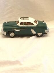 Rare Vintage 1950s Tin Oldsmobile Car With Driver Battery Operated Japan