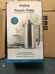 BRAND NEW Frieling Brushed Stainless Steel 36 Oz. French Press Distressed Box $49.00