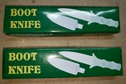 2 Defective Engraved Silver Boot Athame Knife Dagger Wicca Wiccan Pagan Altar