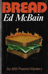 Bread Signed First Edition By Ed Mcbain 1974 Hardcover Plastic Book Jacket Cover