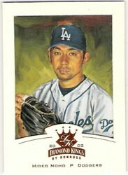 HIDEO NOMO 2002 Donruss Diamond Kings BRONZE Border Card #72 Los Angeles Dodgers