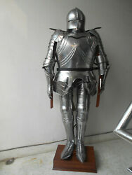 Collectibles Medieval Antique Knight Suit Of Armour Reenactment With Stand Suit