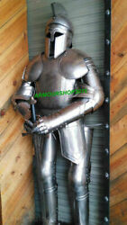 Medieval Collectibles Antique Knight Suit Of Armour With Stand Suit Reenactment