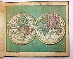 Nice Pocket Atlas 1762 By Tobias Conrad Lotter 30 Maps In Antique Colors
