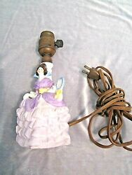 Vintage Victorian Ceramic Lamp Made In Germany, Numbered